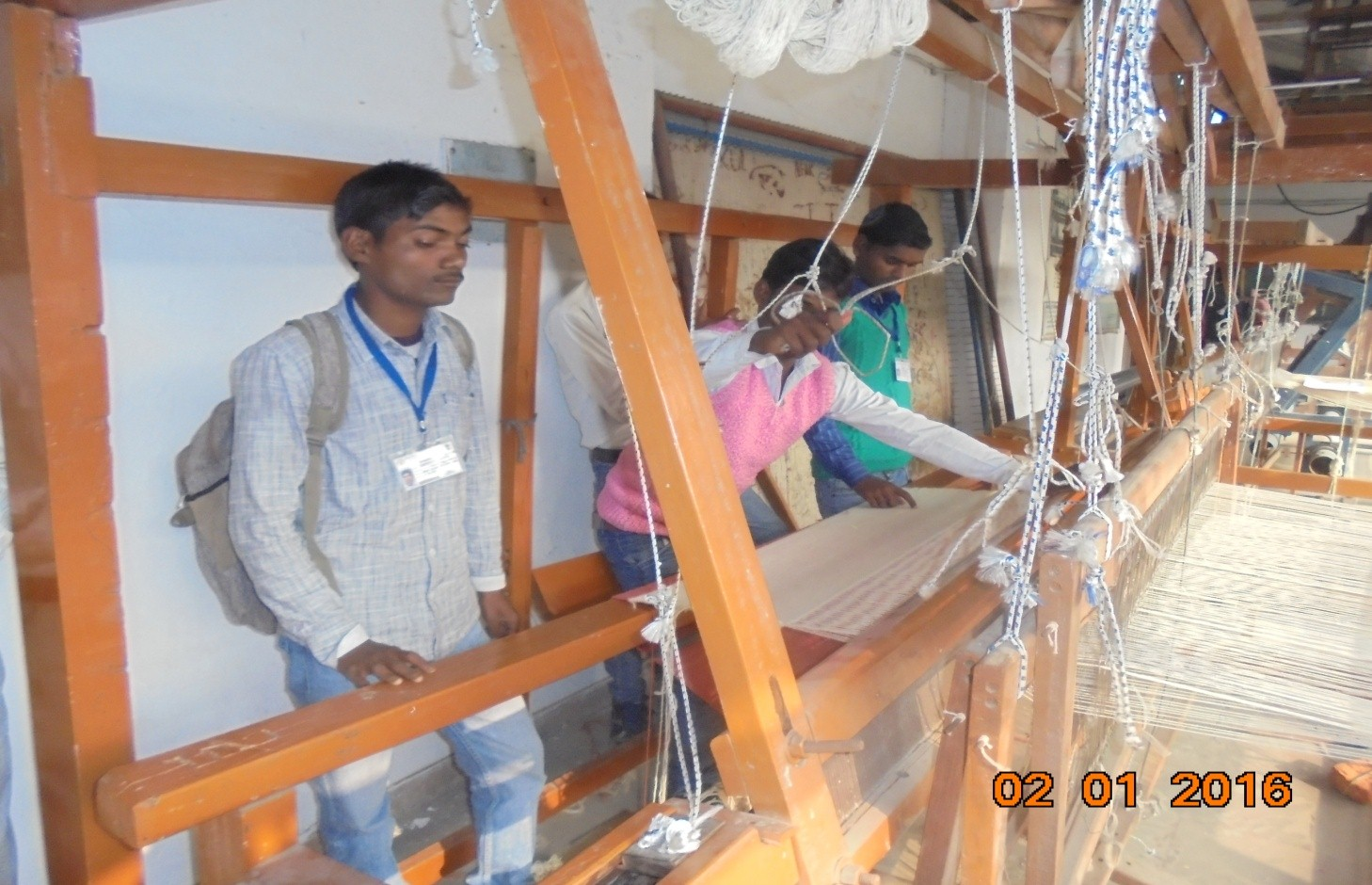 image of Integrated Design & Technical Development Project in Base Woven Textiles used for  Handicrafts held at IICT, Bhadohi  exclusively for SC category Artisans from 30.10.2015 to 08.02.2016.